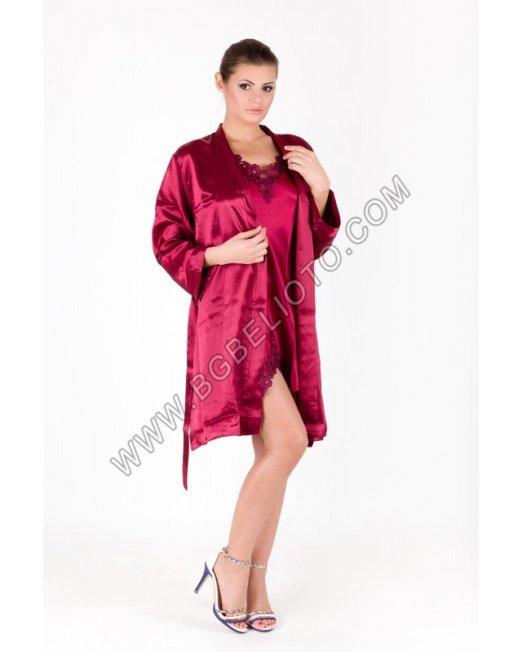 Дамски сатенен халат