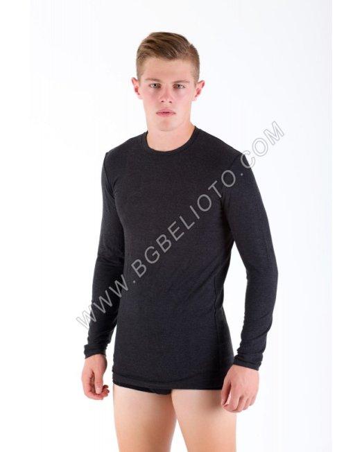 Мъжка вълнена тениска дълъг ръкав АНГОРА