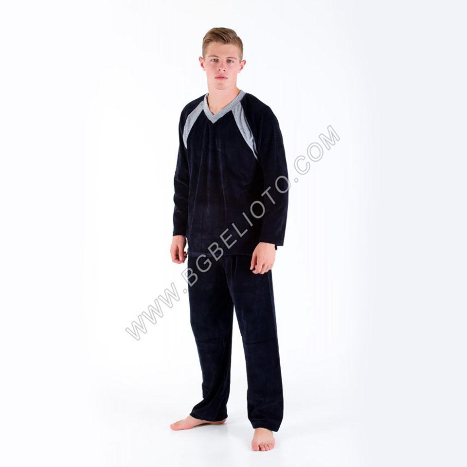 Българско бельо - Мъжки плюшен комплект БРАТЯ ГЬОКОВИ
