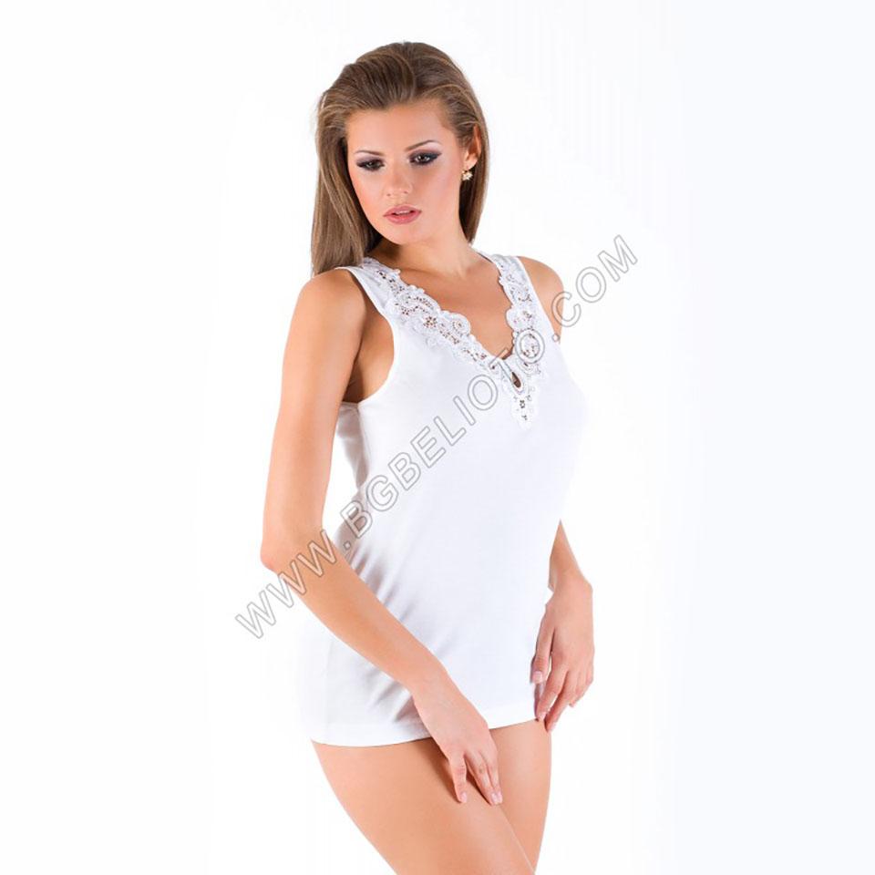 Българско бельо - Дамски корсаж рипсен памук - БГ Бельото