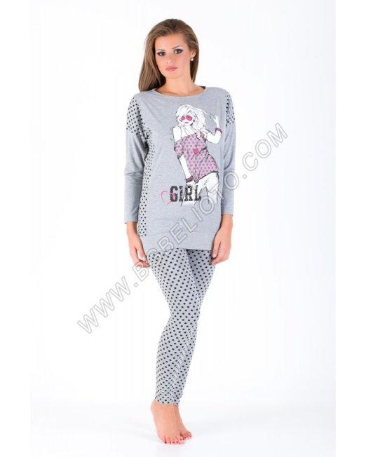 Дамски пижами - Дамска пижама с клин Братя Гьокови
